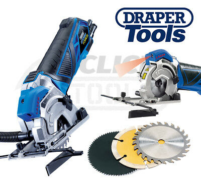 Draper Storm Force Mini Plunge Saw Woodworking Cutting Power Tool 600W 230V New