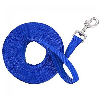 """20 Ft Poly Web 1"""" Wide Training Lunge Line BLUE Color Bolt Snap New Horse Tack"""