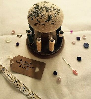Vintage Sewing Spool And Pin Cushion ***thread Included***  *sewing Essential*