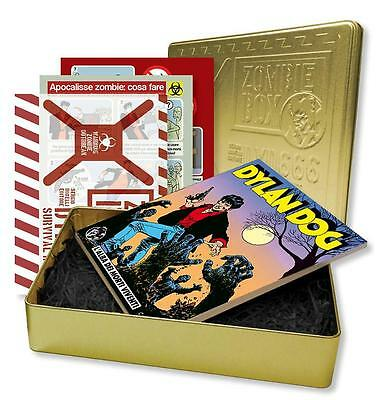 Dylan Dog numero 1 Metal Box Zombie Limited Gold Version Survival KIT Blisterato