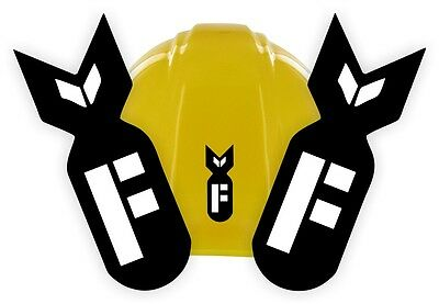 (2) F Bomb Funny Hard Hat Stickers | Motorcycle Helmet Decals | Mechanic Toolbox