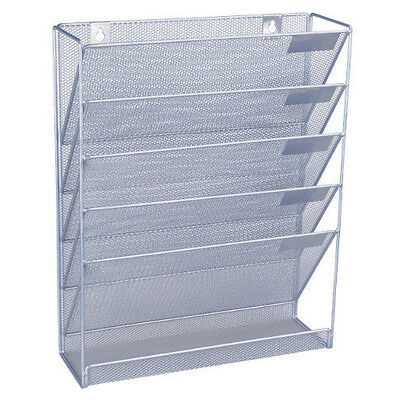 Files Office Organizer Wall Storage A4 Paper Newspaper Letter Mesh Holder Rack