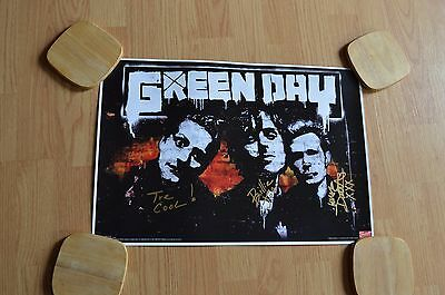 Green Day  ~  Autographed 13 x 19 Poster with COA ~ Entire Band