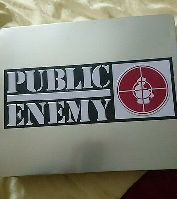 public enemy 6 CD and DVD tin box set with t-shirt book and signed by Chuck D