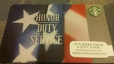 Honor, Duty and service Starbucks card 2014 edition