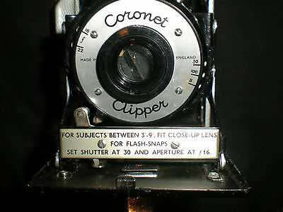 Coronet Clipper - Vintage 1950s Folding 120 Film Camera with Canvas Case
