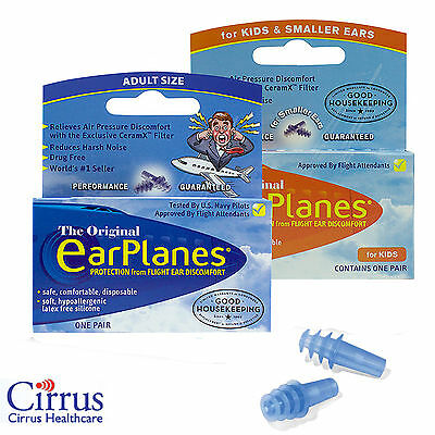 Flying EarPlanes Family Packs of Earplugs  - Cirrus Healthcare Ear Plugs