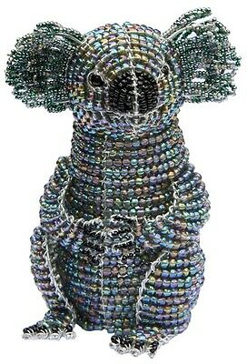 Koala Bear Glass Beads Beaded Wire Hand Crafted Beadworx NWT Australia Marsupial