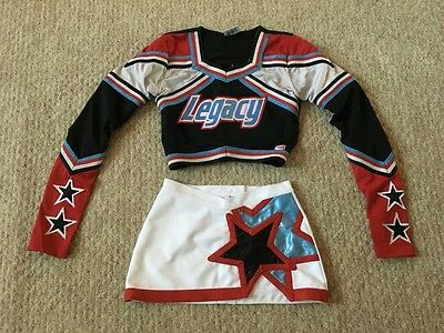 LEGACY Cheerleader Uniform Costume Outfit Size M J&M Youth