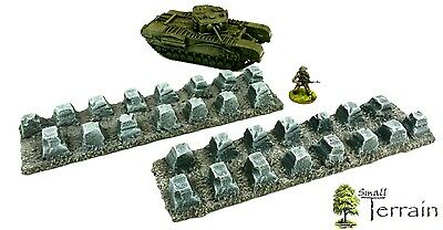 28mm resin Large Dragons Teeth Tank Traps - Bolt Action ,Warhammer 40k UNPAINTED