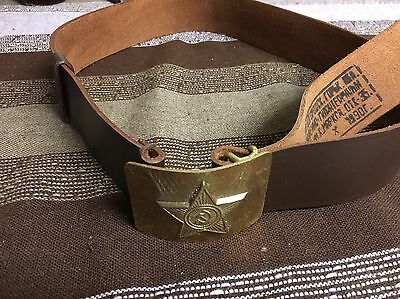 Original Genuine Russian Soviet Army Soldier Real Lether Belt