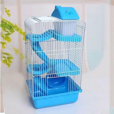 Hamster Cage Clear View Single Layer Mice Mouse Gerbil Castle Rat House Size L
