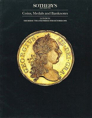 SOTHEBY'S Coins, Medals and Banknotes Catalogue London 7th & 8th October 1993