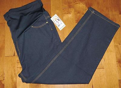 3X Maternity Jeans Plus Size Oh! Mama Dark Blue Soft Stretch NEW 30 Inseam NWT