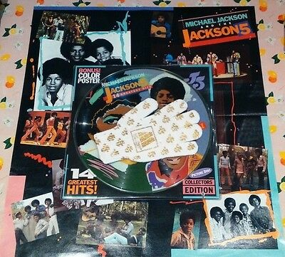 Michael Jackson/The Jackson 5 - 14 Original Greatest Hits 12''Picture Disc Glove