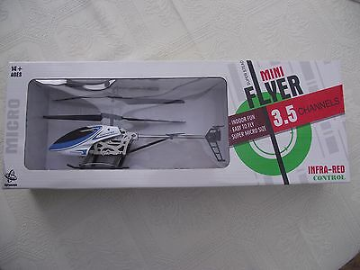 Gyros Mini Flyer Indoor Helicopter 3.5 Channel Infa Red Control Micro RC - Blue