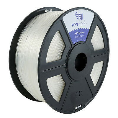 WYZwork 3D Printer Premium ABS Filament 1.75mm 1kg/2.2lb - Clear