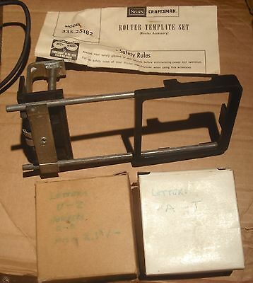 Sears Craftsman  Router Template SET Model 335.25182