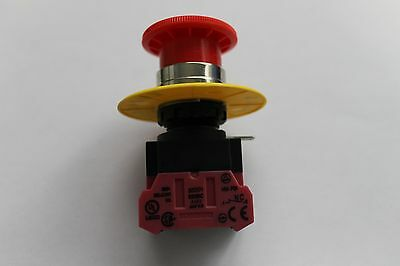 IDEC Emergency Stop Push Button With IDEC HW-F01 Contact Block