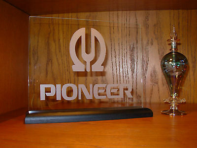 Pioneer Etched Glass W/base