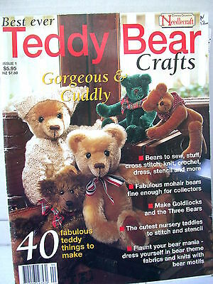 TEDDY BEAR CRAFTS   40 THINGS TO MAKE Quilts cushion sampler childrens knits  SC
