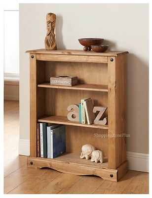 New Solid Rio Pine Wood Book Case Home Office Bed Living Room Rustic Furniture