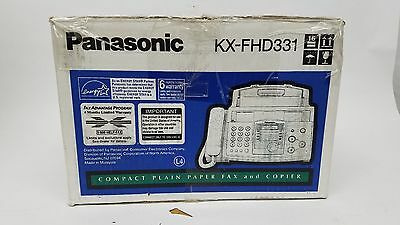 Panasonic KX-FHD331 Plain Paper Compact Fax & Copier & Phone NEW in Box Free S&H