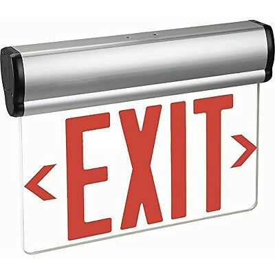 Kaito LED Lights Edge Light (Edge-Lit) Exit Sign, Rotary Surface Mounting - Red