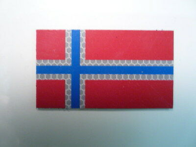 """Norway Refl Solas+Red+Blue 3 1/2""""x2"""" Reject#347 With Velcro® Brand Fastener"""