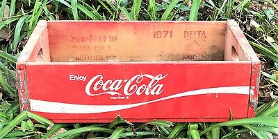 Coca Cola Open Wooden Drink Crate Great Piece 200 Vintage & Strong