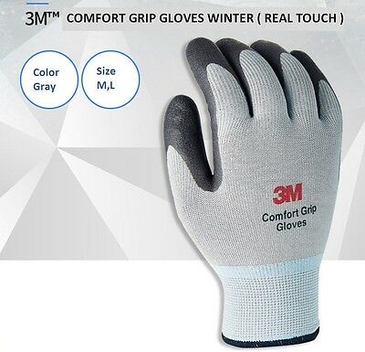 3M Comfort Grip Gloves Winter Real Touch For Winter Outdoor NBR Coating Safety