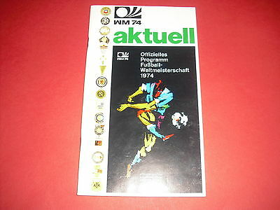 1974 Fifa World Cup Tournament Brochure - Aktuell 48 Pages