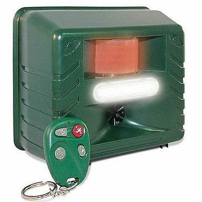Yard Sentinel RC ✪ Ultrasonic Pest Repeller with Motion Detector, Strobe, Remote
