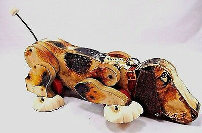 Vintage 1961 Fisher Price Snoopy Walking Dog Toy #181 All Original No Leash