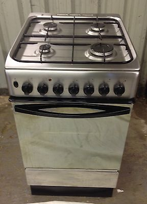 Indesit K3G11XG Dual (Electric and Gas) Cooker - Stainless Steel