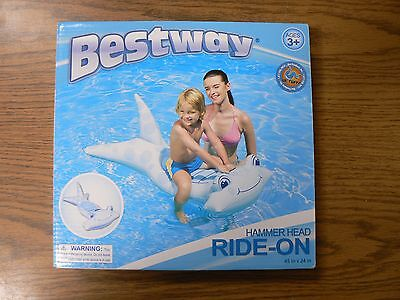 Bestway Hammer Head Ride-On Inflatable Kids Swimming Pool Toy Float