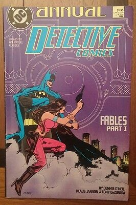 Detective Comics Annual 1 DC comic ~VF Batman!
