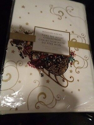 Williams Sonoma 'Twas the night before Christmas place mats placemats Set 8 New