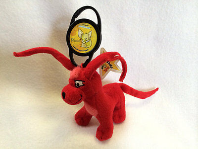 Neopets Red Gelert Plush McDonalds Happy Meal Toy Petpet Clip Faellie