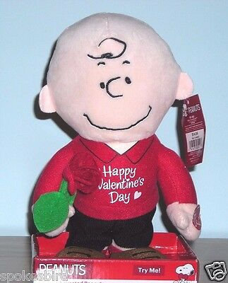 New Peanuts Musical Charlie Brown Animated Valentine's Plush Doll Toy ~ Snoopy