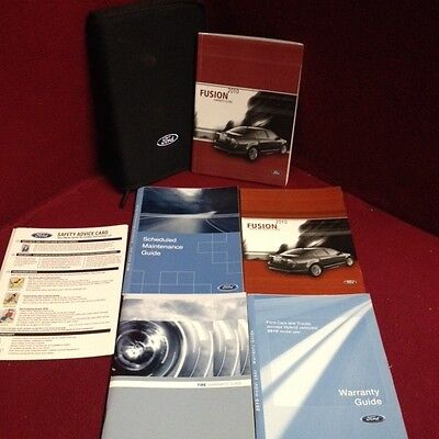 2010 Ford Fusion Owners Manual with maintenance and warranty guide and case