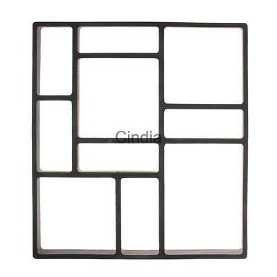 DIY Plastic Path Maker Model Stepping Stone Road Paving Cement Mould Brick