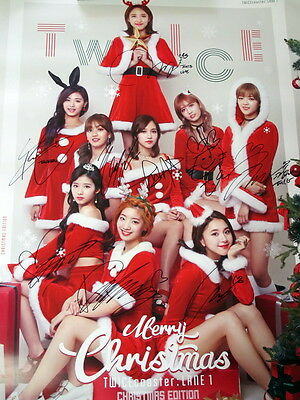 TWICE autographed 2016 coaster LANE 1 Christmas poster  korean version