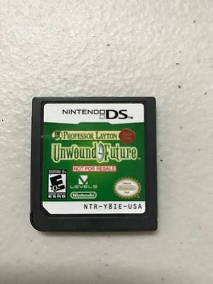 Nintendo DS Professor Layton and the Unwound Future Not for Resale VGWC Warranty