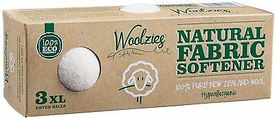 Extra Large Wool Dryer Balls, Woolzies, 3 count 1 pack White