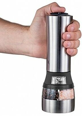 Pepper Grinder, Nuvita 2 in 1 Electric Salt and Pepper Grinder, Battery Powered