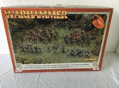 Please Help Our Troops BEASTMEN ARMY BOX RARE OOP 9th Age Warhammer Box is empty