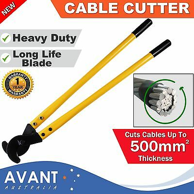 Cable Cutter 800mm Cutting Pliers Copper Wire Aluminium Up To 500mm² Steel Tool