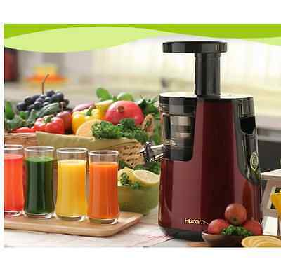NEW Hurom Slow Juicer HU-600WN Whole Fruit Vegetable Citrus Squeezer 2nd Gen Red