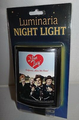 I Love Lucy FRAMED NIGHT LIGHT, Collectible 2001, NIP CALIFORNIA, HERE WE COME!